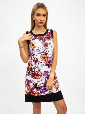 Платье разноцветное в принт | 5501014