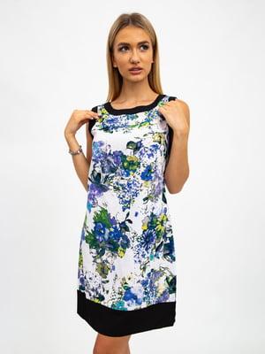 Платье разноцветное в принт | 5501015