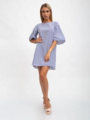 Платье сине-белое в полоску | 5501025