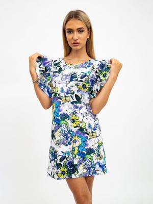 Платье разноцветное в принт | 5501030