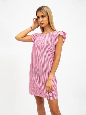 Платье красно-белое в полоску | 5501033