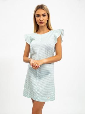 Платье двухцветное в клетку | 5501035