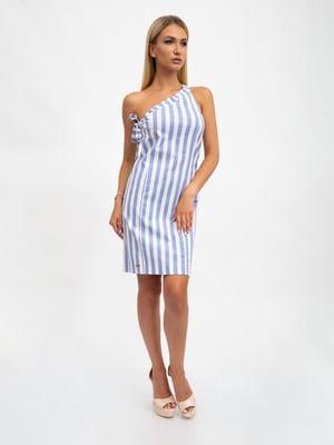 Платье двухцветное в полоску | 5501044