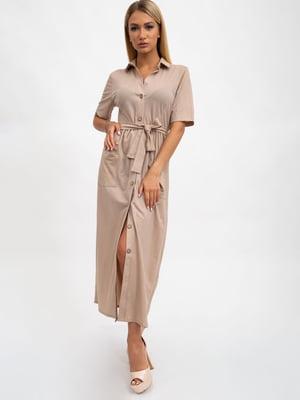 Платье бежевое | 5501049