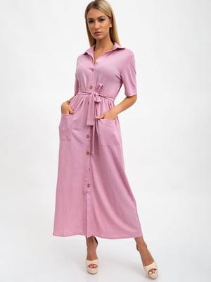 Сукня кольору пудри | 5501051