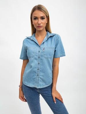 Рубашка светло-голубая | 5501065