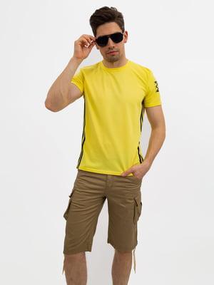 Футболка жовта зі смужками | 5501123