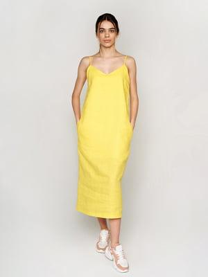 Платье желтое - УкрГламур - 5501379