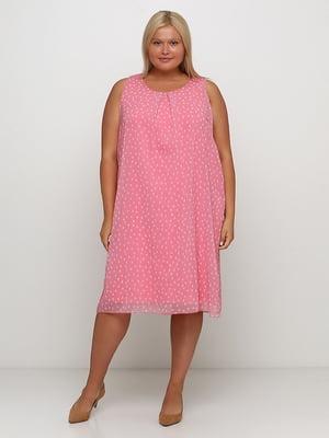 Сукня рожева з принтом | 5501686