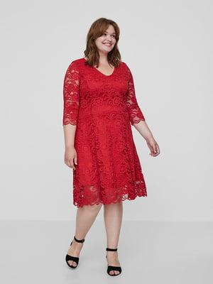 Сукня червона з візерунком | 5501707