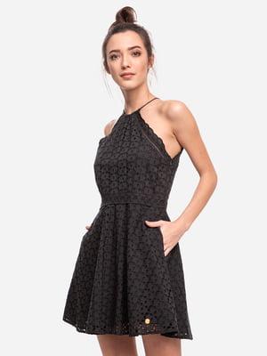 Платье черное с узором | 5501708