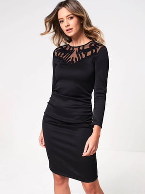 Сукня чорна з декором | 5501718