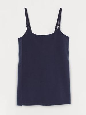 Майка для вагітних темно-синя | 5501950