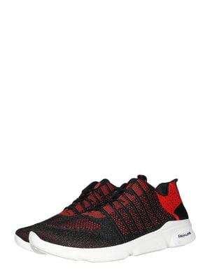 Кросівки чорно-червоні | 5497614