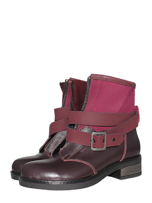 Ботинки бордовые   5502013