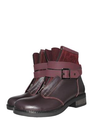 Ботинки бордовые   5502015