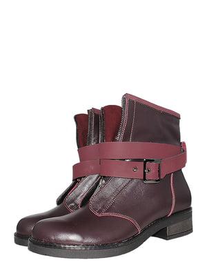 Ботинки бордовые   5502016