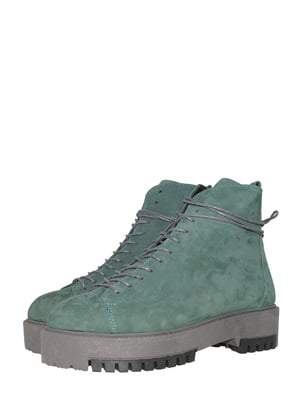 Ботинки зеленые   5502024
