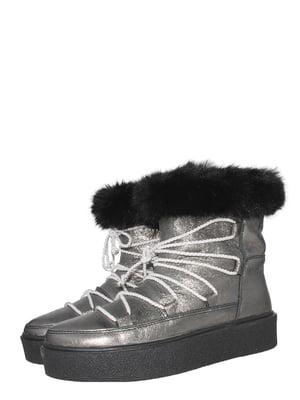 Ботинки стального цвета | 5502027