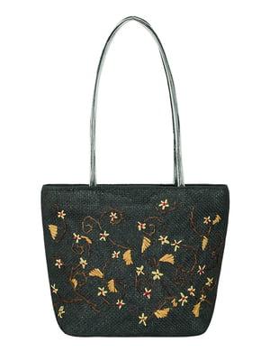 Сумка плетеная черная | 5502082