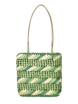 Сумка-шопер плетеная зеленая   5502092