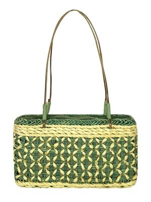 Сумка плетеная зеленая | 5502090
