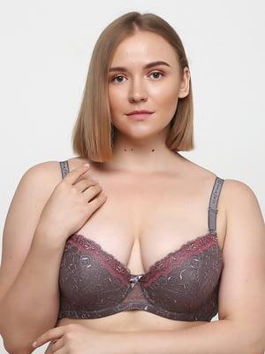 Бюстгальтер сіро-рожевий | 5476567