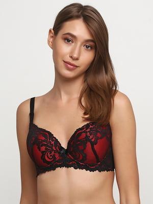 Бюстгальтер черно-красный | 5484026