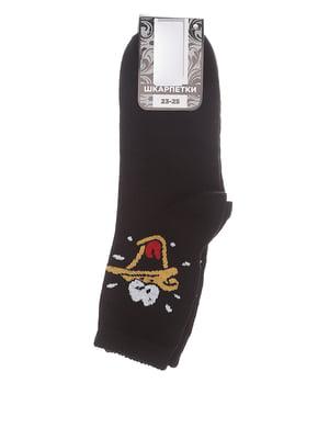 Носки черные с принтом | 5484065