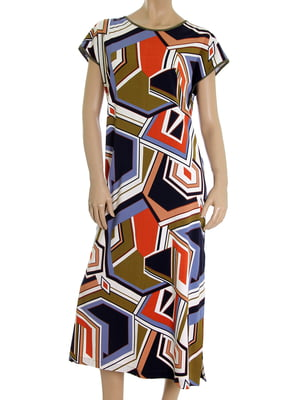 Платье в абстрактный принт | 5502875