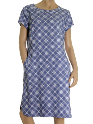 Сукня синя в ромби | 5502878