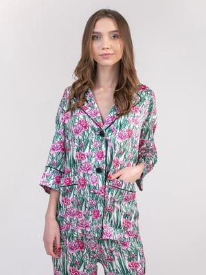 Блуза в цветочный принт | 5357126