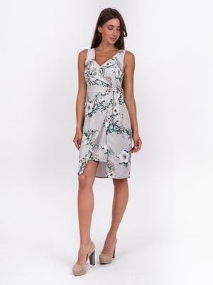 Платье сиреневое с цветочным принтом | 5502897