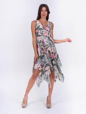 Платье розовое с цветочным принтом | 5502900