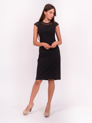 Платье черное с декором   5502902
