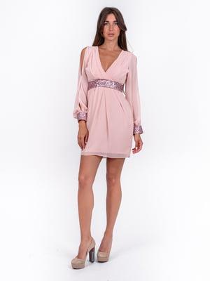 Платье розовое с декором | 5502910