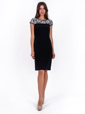 Сукня чорна з візерунком | 5502912