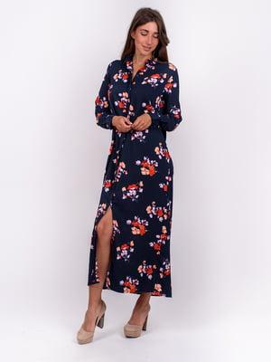 Сукня синя з квітковим принтом   5502922