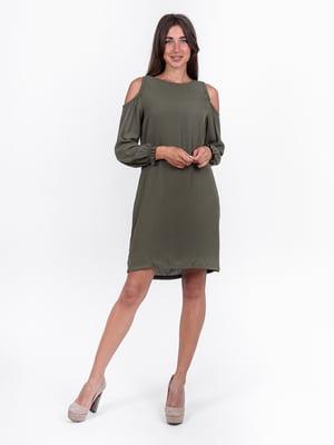 Сукня кольору хакі | 5502932