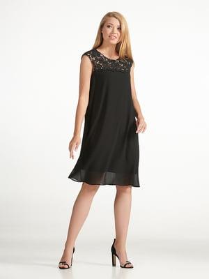Сукня чорна з візерунком | 5304164
