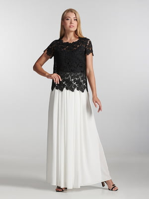 Блуза черная с узором   5304294