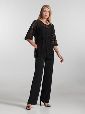 Блуза черная с узором   5304295