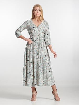 Платье серое с принтом | 5306106