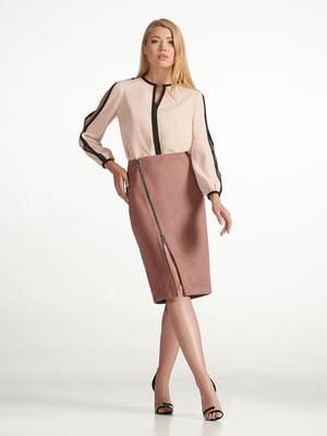 Блуза кольору пудри   5343234