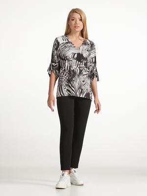 Блуза різнокольорова з принтом | 5343237