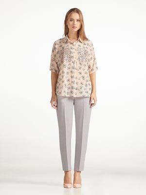 Блуза розовая с принтом   5343238