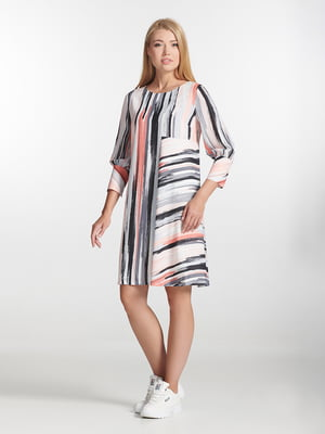 Платье розовое в полоску | 5343303