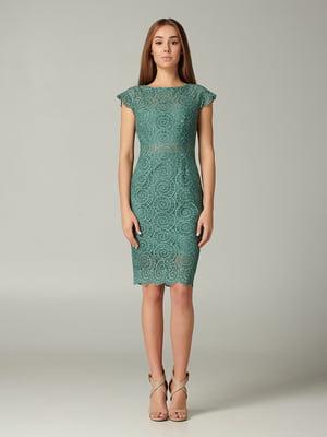 Сукня зелена з візерунком   5343314
