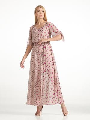 Платье коричневое в горох | 5348037