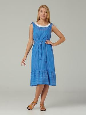 Платье синее в полоску | 5441320
